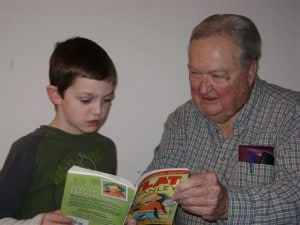 RSVP member Hank reads at Country Trails School in Elgin, IL