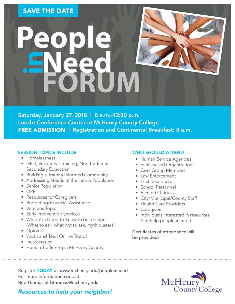 Save the Date: People in Need Forum 2017 - Senior Services